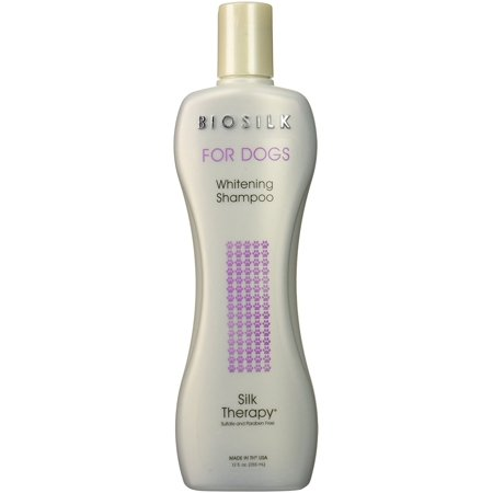 Biosilk therapy for dogs whitening shampoo, 12-oz bottle 12 Ounce Dog Shampoo