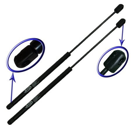 Two Rear Glass Gas Charged Lift Supports For 1997-2006 Jeep Wrangler with Factory Hardtop. Left and Right Side. WGS-170-2