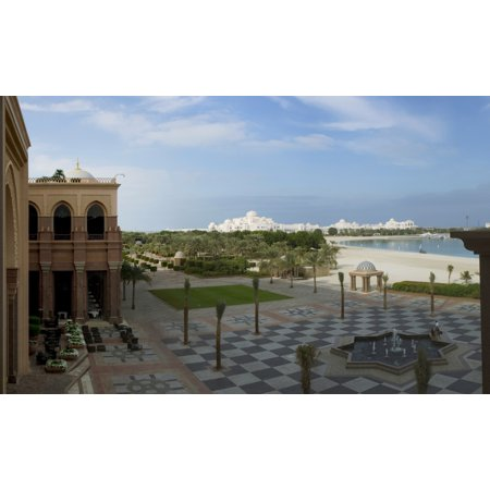 United Arab Emirates Palace - View of garden and beach at Emirates Palace Hotel Abu Dhabi United Arab Emirates Canvas Art - Panoramic Images (20 x 12)