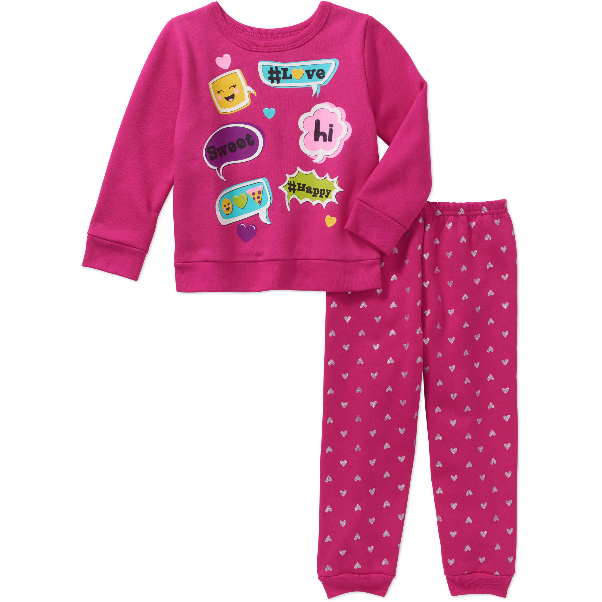 Garanimals Baby Toddler Girls' Basic Fleece Top and Pants 2-Piece Set