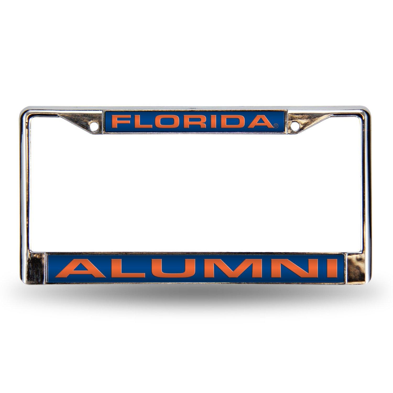 Florida Gators Alumni Laser Chrome License Frame.  Free Screw Caps Included