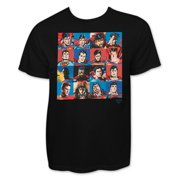 Superman Black Faces Collage T-Shirt-Small