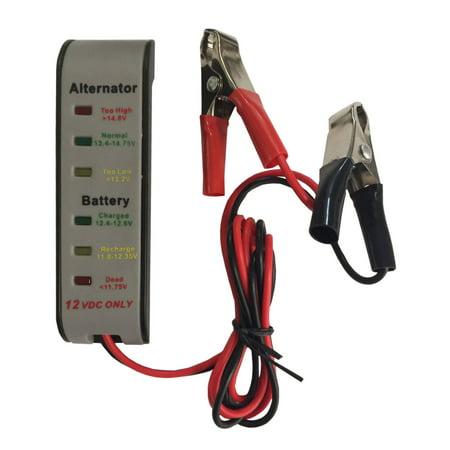 12V 6 LED Display Battery Tester Car Battery - Alternator Monitor Device Alpha