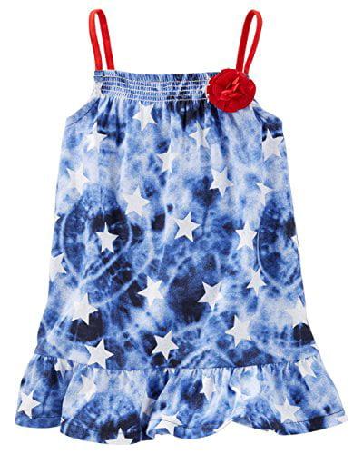 OshKosh Bgosh Little Girls TLC Puff-Print Flutter-Sleeve Tunic 4 Kids