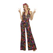 335cc309f89c Dreamgirl Women s Groovy Baby! 60 s Themed Costume Jumpsuit ...