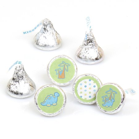Baby Boy Dinosaur - 108 Round Candy Labels Party Favors - Fits Hershey's Kisses](Baby Boy Candy)
