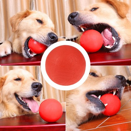 - HURRISE Solid Rubber Ball Interactive Toy Pet Dog Training Chew Play Bite Fetch Toys, Pet Training Ball,Pet Ball Toy
