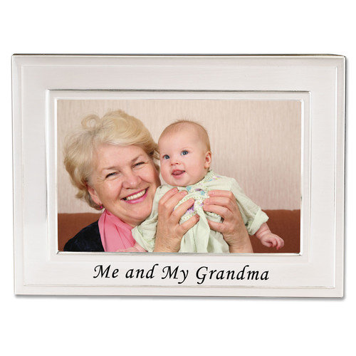Me & My Grandma Photo Frame - Engravable Personalized Perfect Grandmother Gift