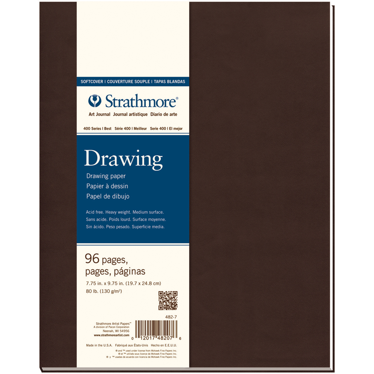 "Strathmore Softcover Drawing Journal 7.75""X9.75""-48 Sheets"