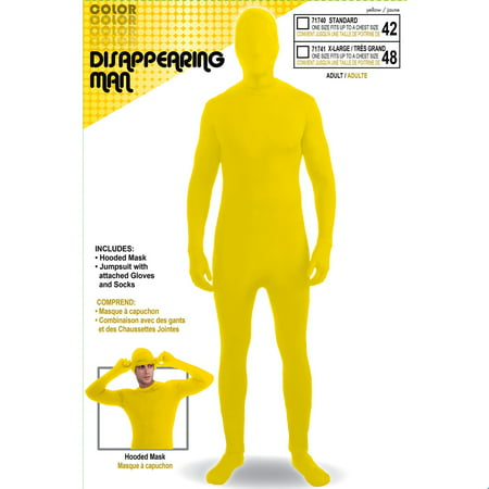 Adult Skinsuit Yellow Halloween Costume](Man With The Yellow Hat Costume Toddler)