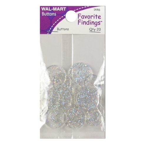 Favorite Findings Glitter Buttons