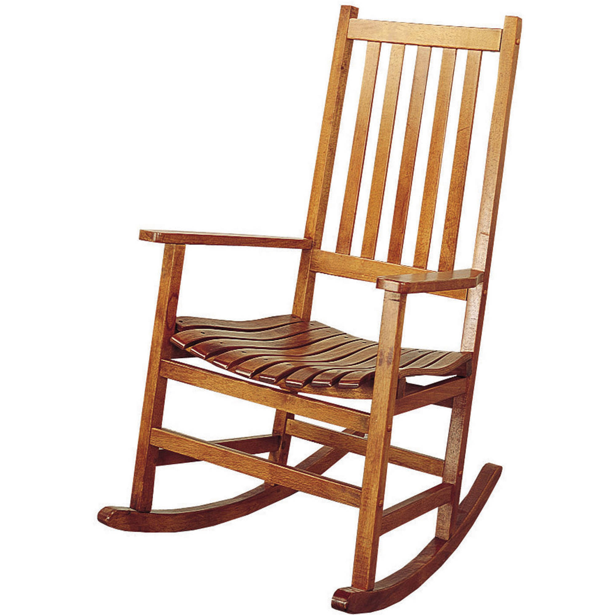 Coaster Country Style Porch Rocker in Warm Brown
