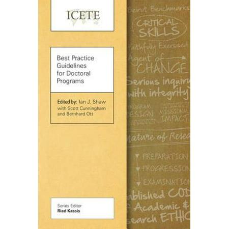 Best Practice Guidelines for Doctoral Programs - (Best Program For Edm)