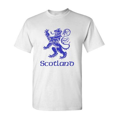 SCOTLAND LION RAMPANT - uk scottish flag - Cotton Unisex T-Shirt (Sonnenbrille Rabatten Uk)