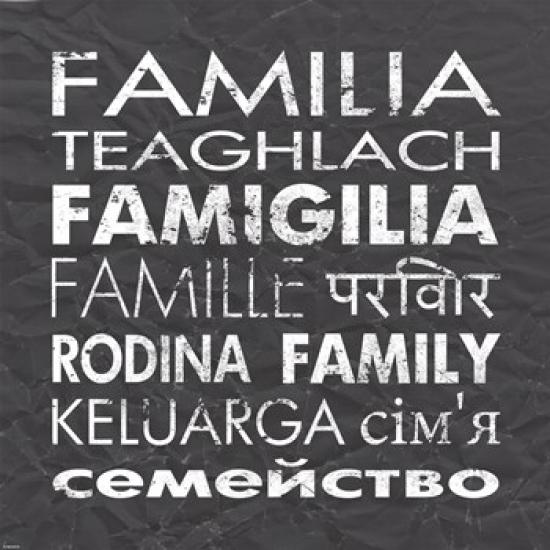 Family Square Poster Print by Veruca Salt (22 x 22)