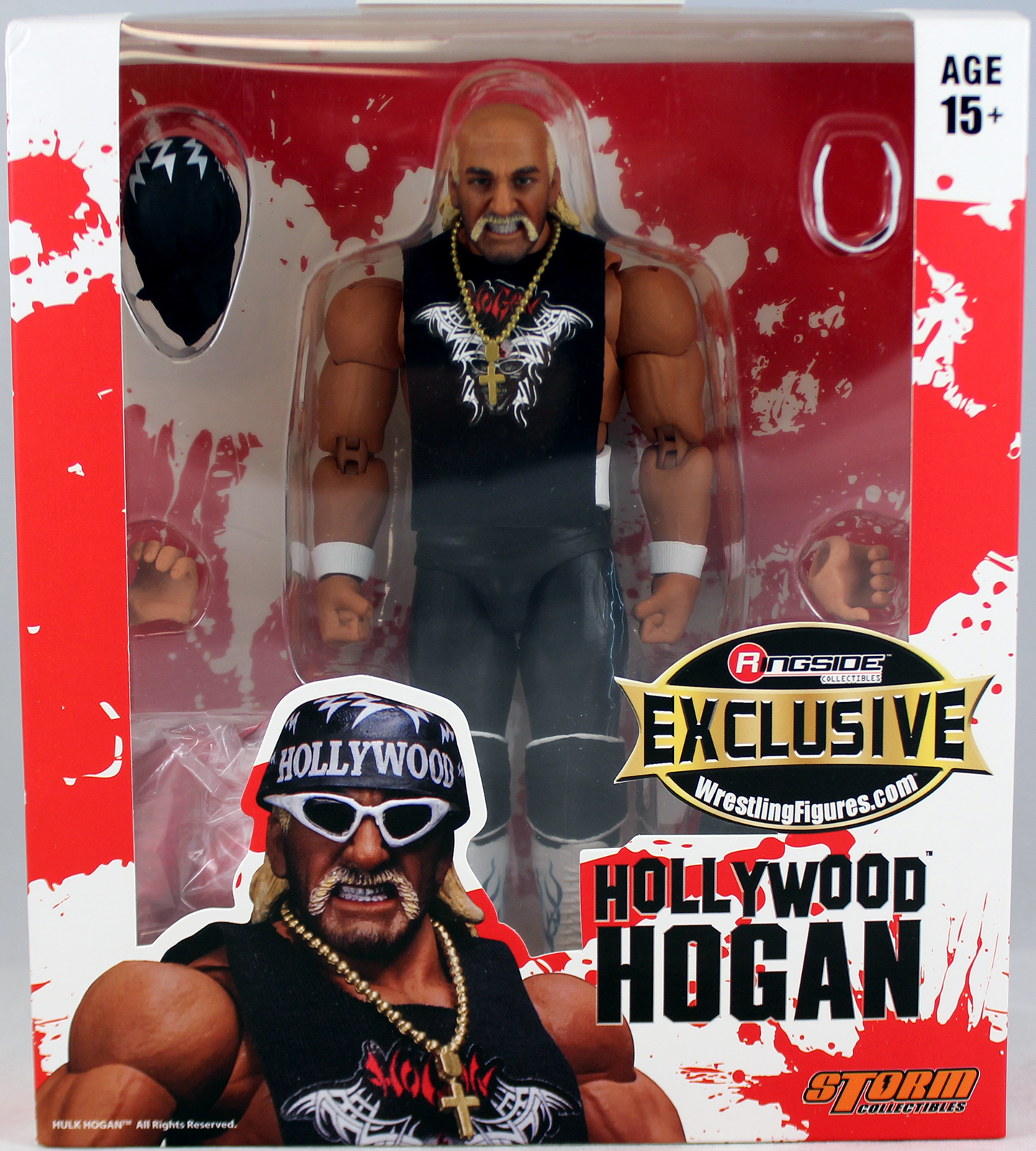 """Red & White"" Hollywood Hulk Hogan - Ringside Exclusive Toy Wrestling Action Figure"