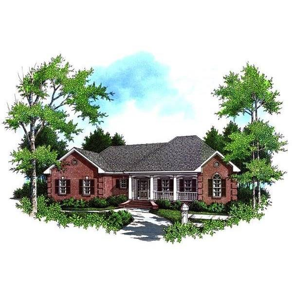 TheHouseDesigners-5696 Colonial House Plan with Basement Foundation (5 Printed Sets)