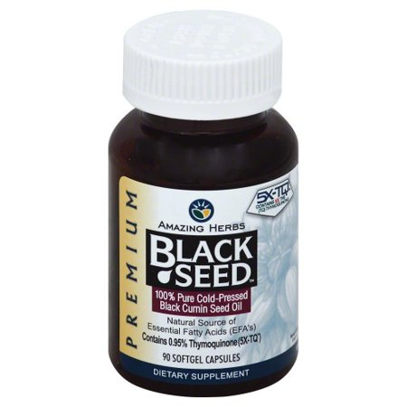 Amazing Herbs Black Seed Black Cumin Seed Oil - 90 (Best Black Seed Oils)
