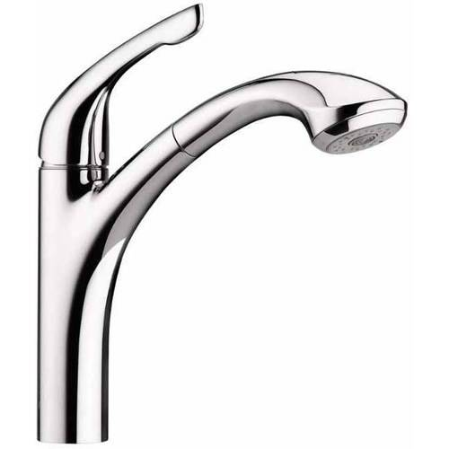Hansgrohe 04076860 Allegro E Pull Out Kitchen Faucet With Toggle Spray  Diverter, Various Colors   Walmart.com
