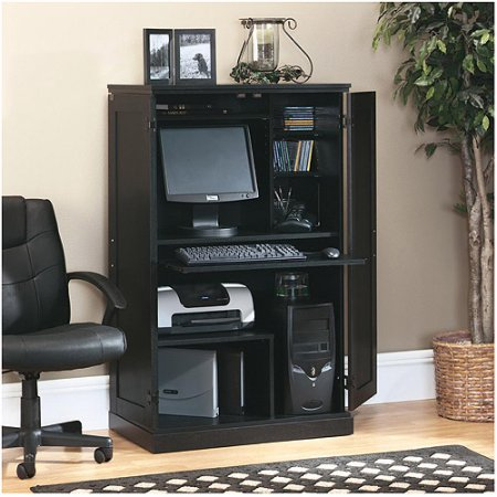 Sauder Office Computer Armoire, Multiple Finishes