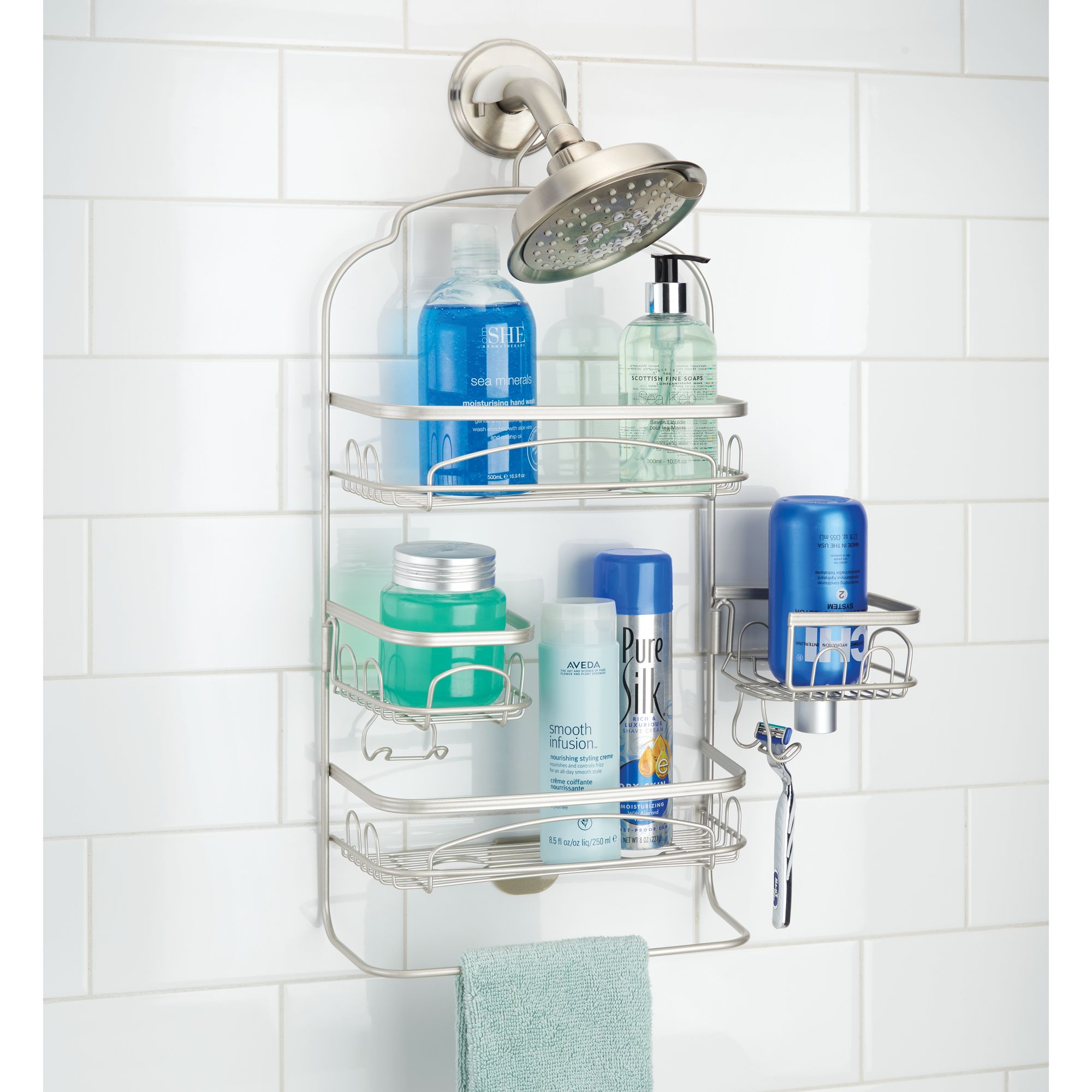Better Homes & Gardens Satin Swivel Shower Caddy - Walmart.com