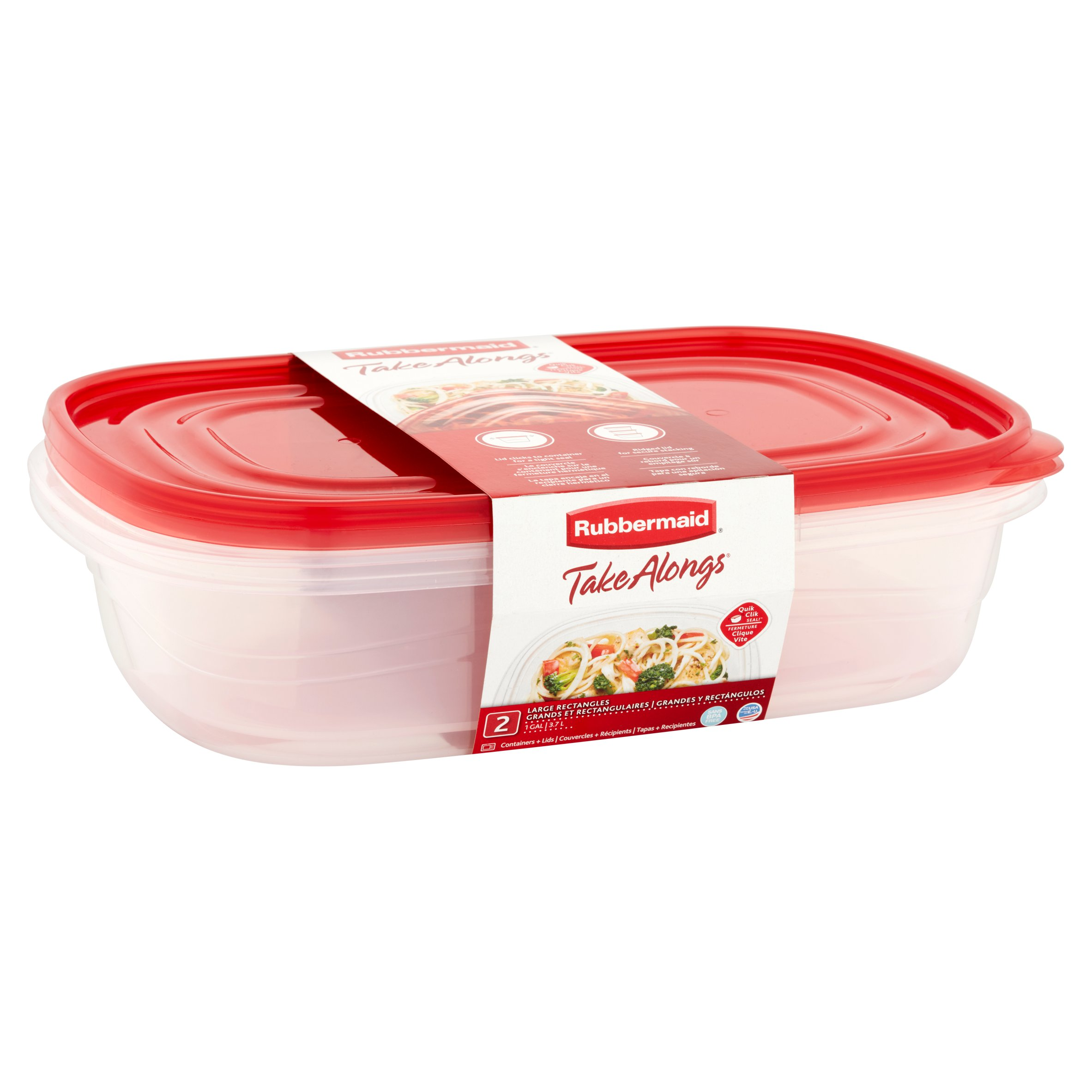 Rubbermaid Take Alongs Rectangular Food Storage Container Set 2