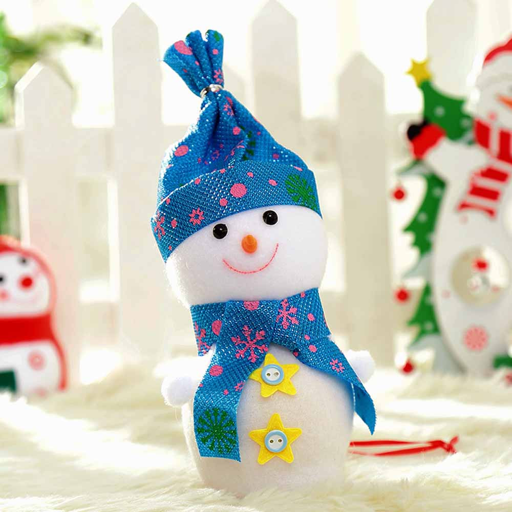 Mosunx Christmas Doll Decorations Snowman Apple Bag Gift Bag Candy Bag Xmas Eve A