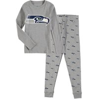 Seattle Seahawks Youth Long Sleeve T-Shirt & Pants Sleep Set - Heathered Gray