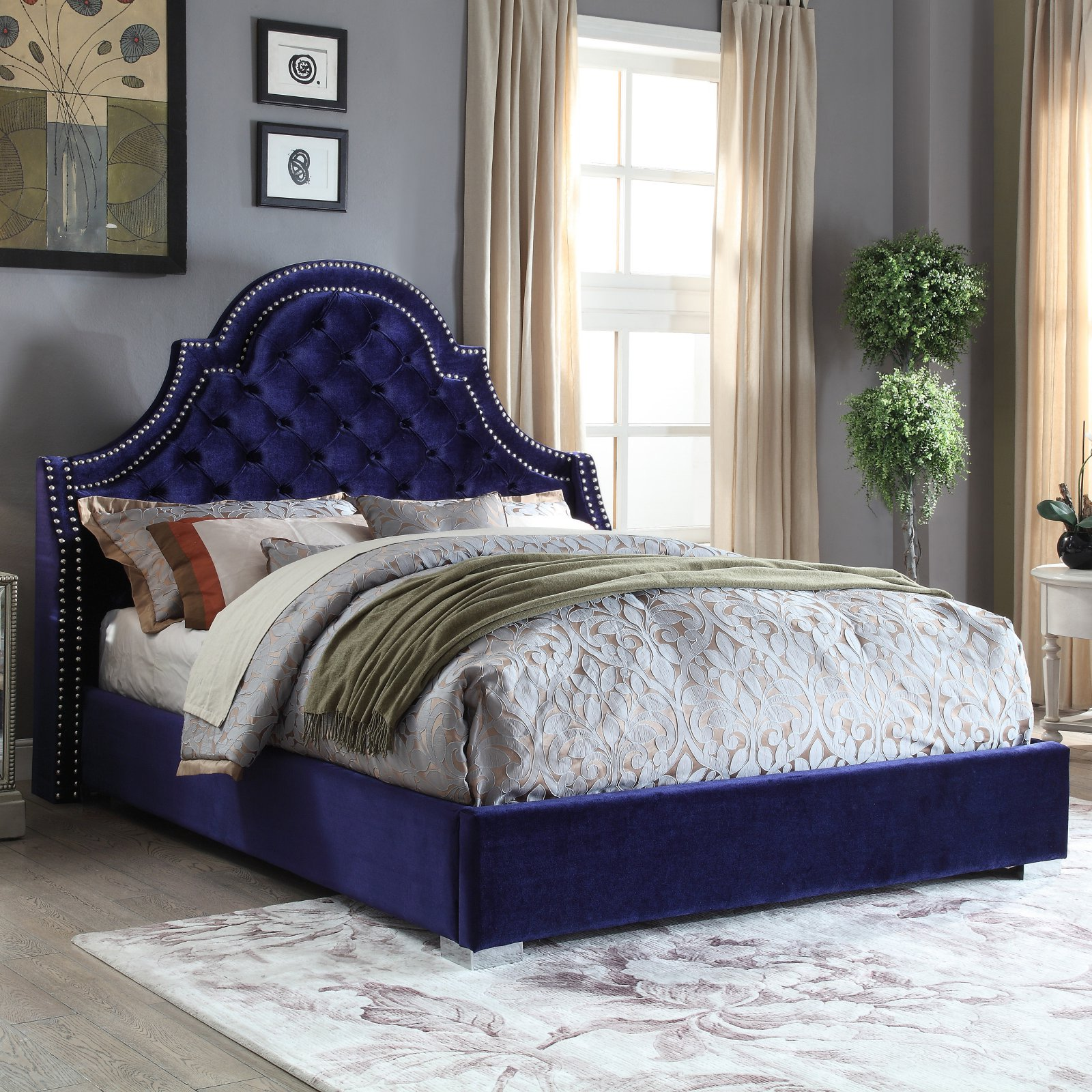 Meridian Madison Upholstered Platform Bed