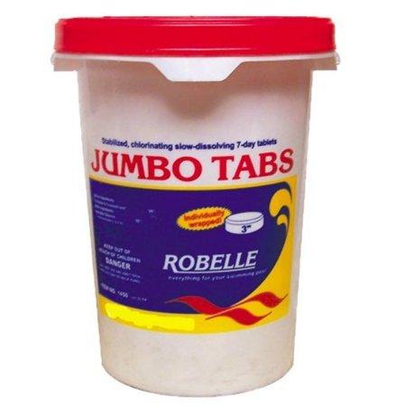 "Robelle 3"" Inch 1450 Sanitizer Jumbo Chlorine Tablets For Swimming Pool- 50 lbs"