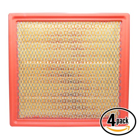 4-Pack Replacement Engine Air Filter for 2015 Ford F-150 V8 5.0 Car/Automotive - Panel Filter,