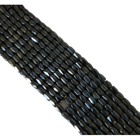 5x8mm Faceted Magnetic Hematite, Loose Beads, 74 Inches of 250, Loose -