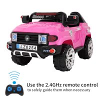 LEADZM LZ-9922 Off-Road Police Car, Ride on Car for Kid, Double Drive With 2.4G Remote Control,12V7AH Rechargeable Battery-Pink