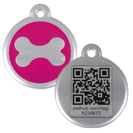 Walmart Call In Number >> Pethub Rdtbhl Reddingo Bone Pink Tag With Call Center Number Large