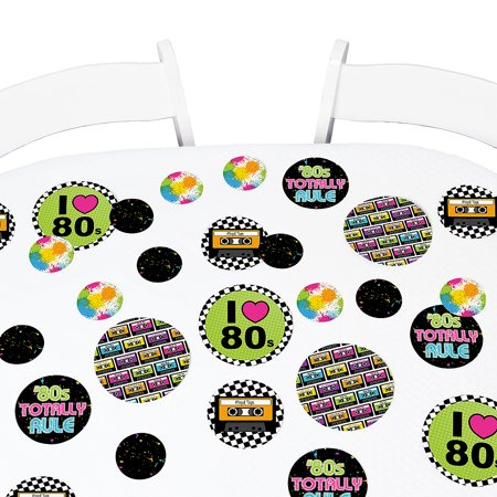 80's Retro - Totally 1980s Party Giant Circle Confetti - Party Decorations - Large Confetti 27 Count (Giant Confetti Shooter)