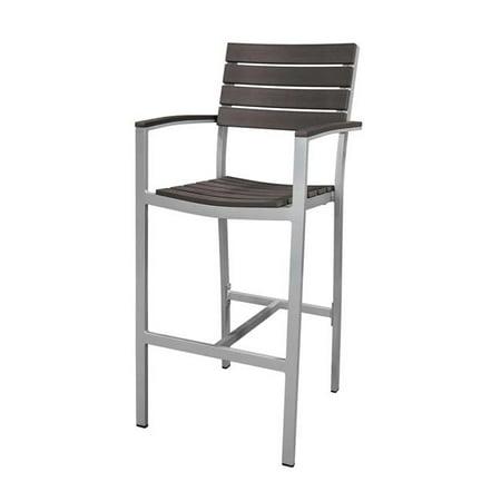 Source Contract SC-2404-173-ESP Vienna Bar Arm Chair, Espresso ()