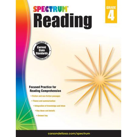 Spectrum Reading Workbook, Grade 4 (Halloween Art For Grade 4)