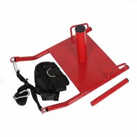 Power Speed Sled with Harness Weighted Drag Sport Crossfit Running Football Fitness