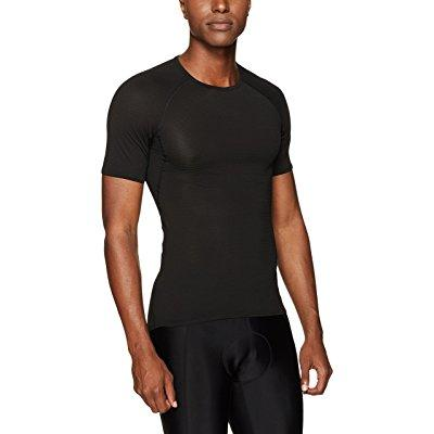 gore bike wear men's base layer shirt, m, black by