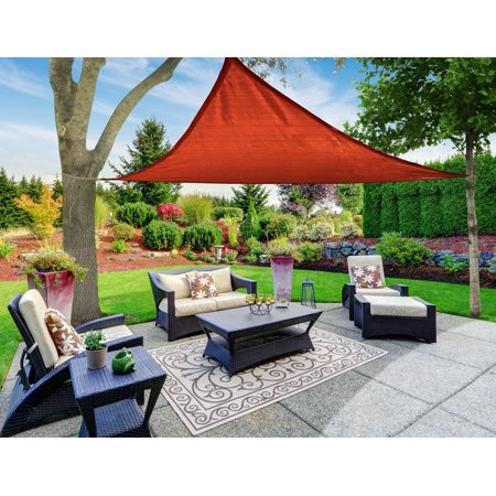 sun shade sail canopy triangle red 12 39 x12 39 x12 39. Black Bedroom Furniture Sets. Home Design Ideas