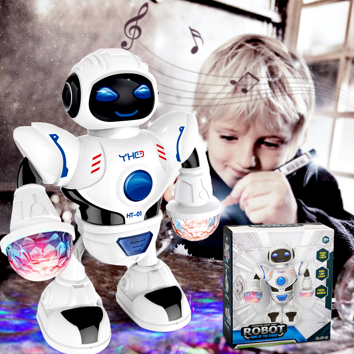 Electronic Astronaut Robot Music Dancing Walking Cool Disco Light Kids Baby Children Educational Toy Birthday Gift