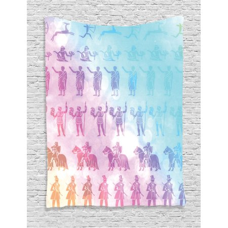 House Decor Wall Hanging Tapestry, Digital People Silhouettes From ...