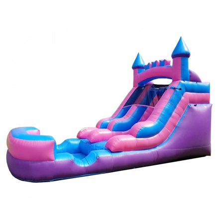 Pogo 12' Pink Crossover Kids Inflatable Water Slide with Blower