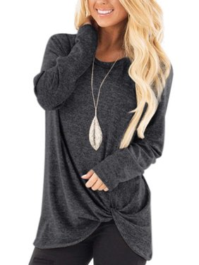 Women Autumn Long Sleeve Solid Casual T shirt Ladies O Neck Loose Tops Blouse