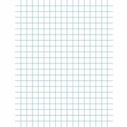 """School Smart 3-Hole Punched Double Sided Punched Grid Paper with Chipboard Back, 8.5"""" x 11"""", White, Pack of 500"""
