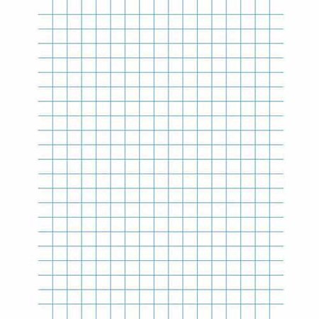 "School Smart 3-Hole Punched Double Sided Punched Grid Paper with Chipboard Back, 8.5"" x 11"", White, Pack of 500"