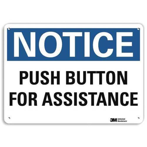LYLE U5-1473-RA_10X7 Notice Sign,RecycldReflecAlum,10inWx7inH G1814386