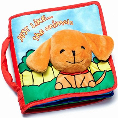 CLOTH BOOK Biy Soft Books for Newborn Biies, 1 Year Old & Toddler, Educational Toy for Boy & Girl, Touch and Feel Activity, Crinkle Peekioo, Gift Box, Interactive Biy Shower Gifts, Washile (Gift For 7 Year Old Boy 2015)