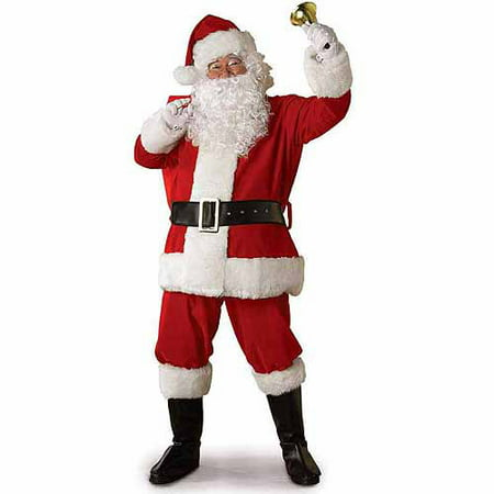 Men's Regal Plush Santa Suit with Faux Fur Trim