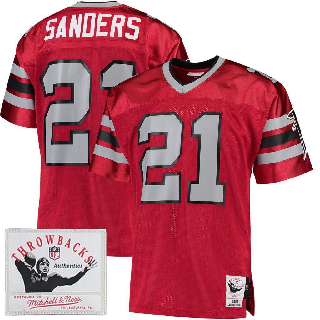 Deion Sanders 1989 Mitchell & Ness Atlanta Falcons Men's Authentic Throwback Jersey